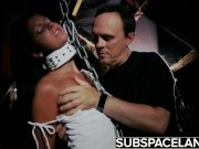 Bondage slave girl in a horror