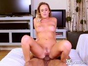 PASSION-HD Busty Blonde Alexis Adams living room fuck