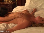 LesbianOlderYounger Curvy Cougar gets Her Pussy Eaten