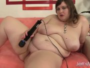 Cute young fatty plays with sex toys