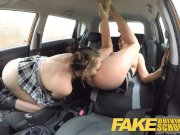 Fake Driving School Daddys girl fails her test with strict mature examiner