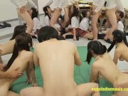 Shinosaki Mio And Atomi Shuri Plus Many Others In This Classroom Orgy