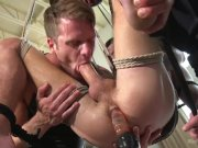 Big Dicked Hunk Suspended and Edged