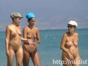Sexy beach nudist women