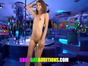 Thai girl is blackmailed for a job at the gogo bar