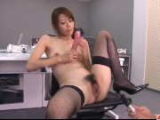 Maki Hojo amazing scenes of dazzling porn at the office