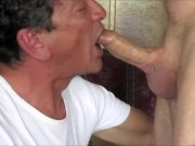 Daddy Deepthroat Blowjob And Swallow