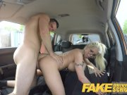 Fake Driving School Busty blonde learner fucks fake driving instructor