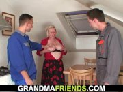 Granny offers her old pussy