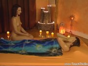 Serious Handjob Massage Brunette