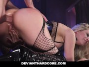 DeviantHardCore - Blonde Slut Caged Up & Dominated