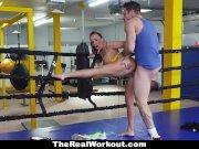 TeamSkeet - Hot Busty Brunette Fucks Trainer After Sparring