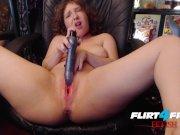 Flirt4Free Fetish - Moon Angel - Dirty Talking Chubby Babe Dildos Pussy