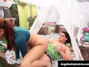 Thick Latina Angelina Castro Fucks Ms. Raquel With Strap On!