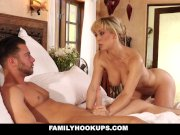 FamilyHookups - Hot Stepmom Gets Rujevenated By Young Cock