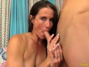 Wanton MILF Sofie Marie Fingers Her Slot and Then Fucks a Guy Silly