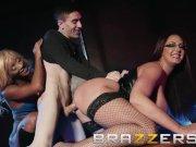 Brazzers - Busty strippers share lucky fan