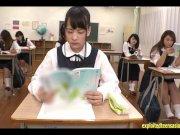 Abe Mikako Gets Massive Bukkake Face In Classroom Continual Cumshots Fantas