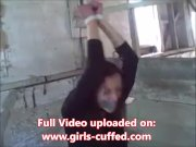 Helpless Prison Girl Tied Up