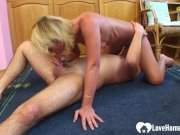 Sensational blonde enjoys sixty-nine after being fucked