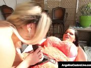 Cuban BBW Angelina Castro StrapOn Fucks Big Butt Nina Kayy!