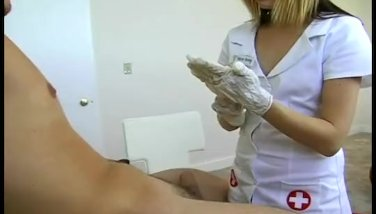 Hot nurse plays with her lover