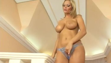 Sexy blonde playing with dildo