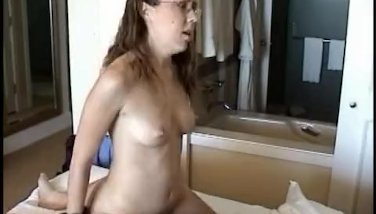 Amateur girl takes a ride