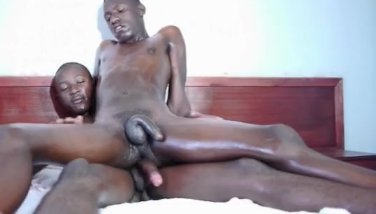 Horny black African loves riding cock