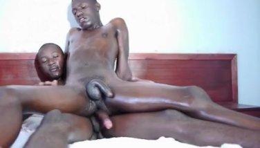 White guy sucks big black dick