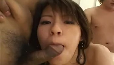 Horny guys oil down a mature housewife