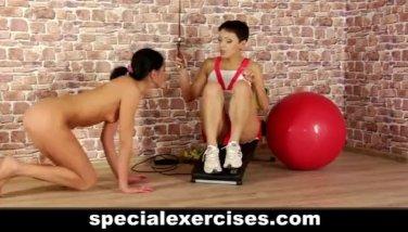 Nude BDSM training for teen hottie