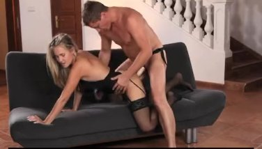 StrapOn - Double penetration for sexy blonde