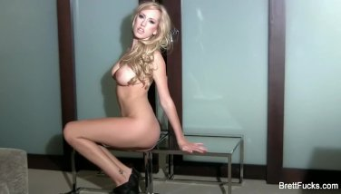 Sexy Brett Rossi nude against the wall