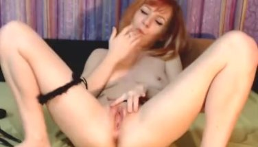 Cute Redhead Teen Plays her Hard Clit