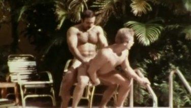 Gay Macho Icon Bruno - Vintage Gay Pool Fuck