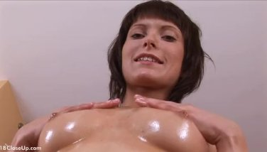 Milla Oils Up and Shakes her Boobs