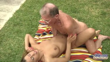 Lucky old perv assfucks young blonde Nikky T - duration 7:16