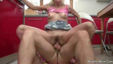 Granny seduces her daughter's boyfriend
