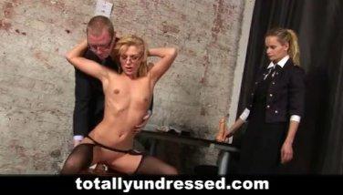 Hot blonde interviewed for secretary job
