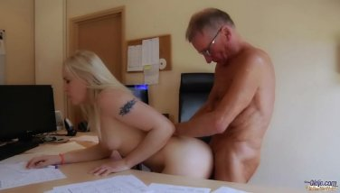 Big dicked old boss nails secretary on bureau