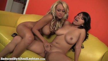 Busty Latina Seduced By Hot Blonde!