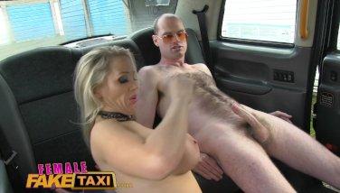 Femalefaketaxi runaway passenger restrained by dominant milf 5