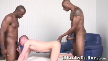 Funny polish guy gets assfucked by black men