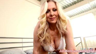 Julia Ann Lets Him Titty Fuck Her Big Tits!