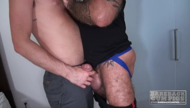 Cock Hungry Athlete Takes A Mature Raw Dick
