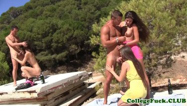 sophomore babes outdoors beach sex orgy