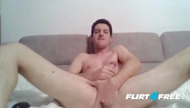 Dammy Cox Slurps Jizz Out Of His Own Cock - Self Suck