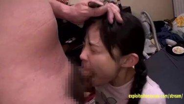 Petite Jav Schoolgirl Gets Deep Throat Cock