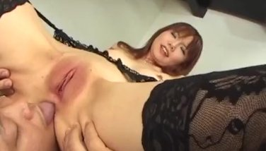 Creampie to end Himena Ebiharaґs crazy sex